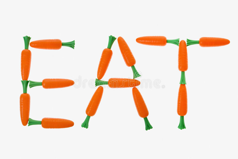 Eat spelled with carrots. royalty free stock images