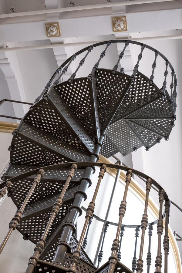Eataly的,都灵意大利老Carpano苦艾酒工厂 照片显示原始的建筑学螺旋台阶和细节  免版税库存图片