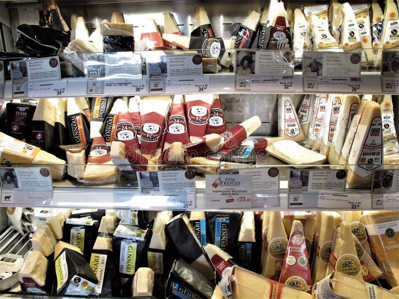 Eataly lager i Rome royaltyfri bild