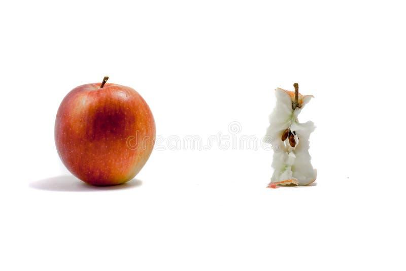 The Eaten Apple Royalty Free Stock Photo