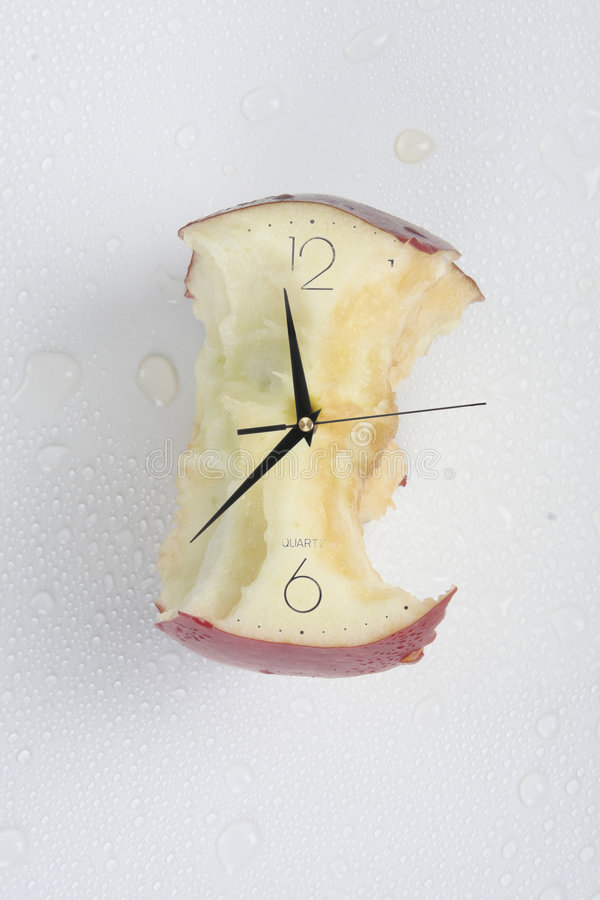 Eaten time royalty free stock image