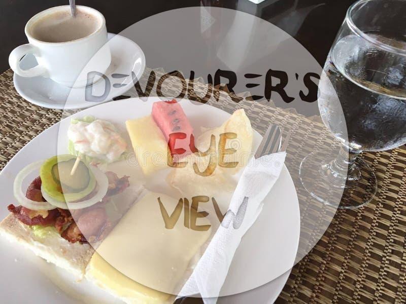 Eater& x27; opinión del ojo de s fotos de archivo