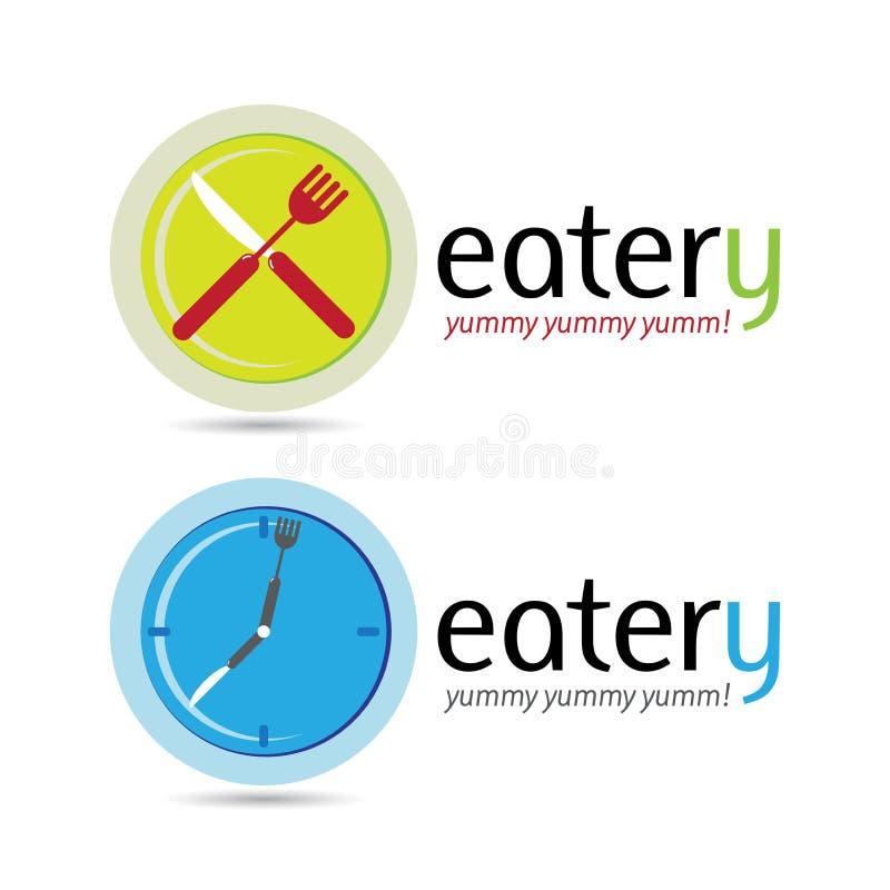 Eatery royaltyfri illustrationer