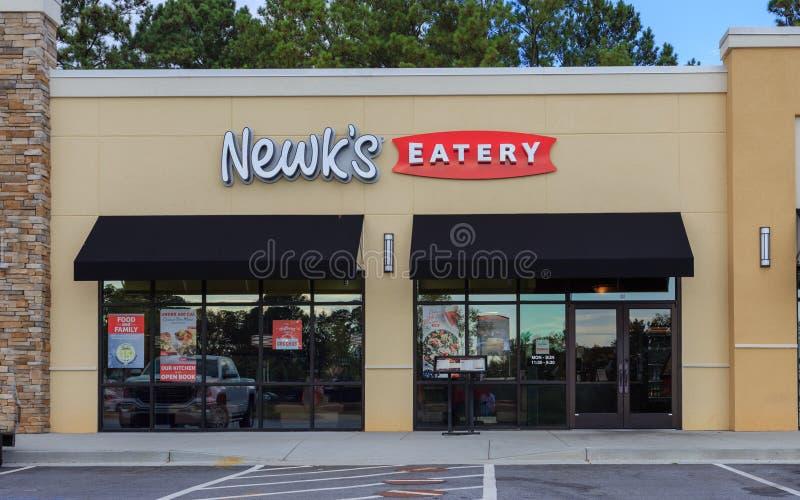 Eatery Storefront fotografia stock libera da diritti