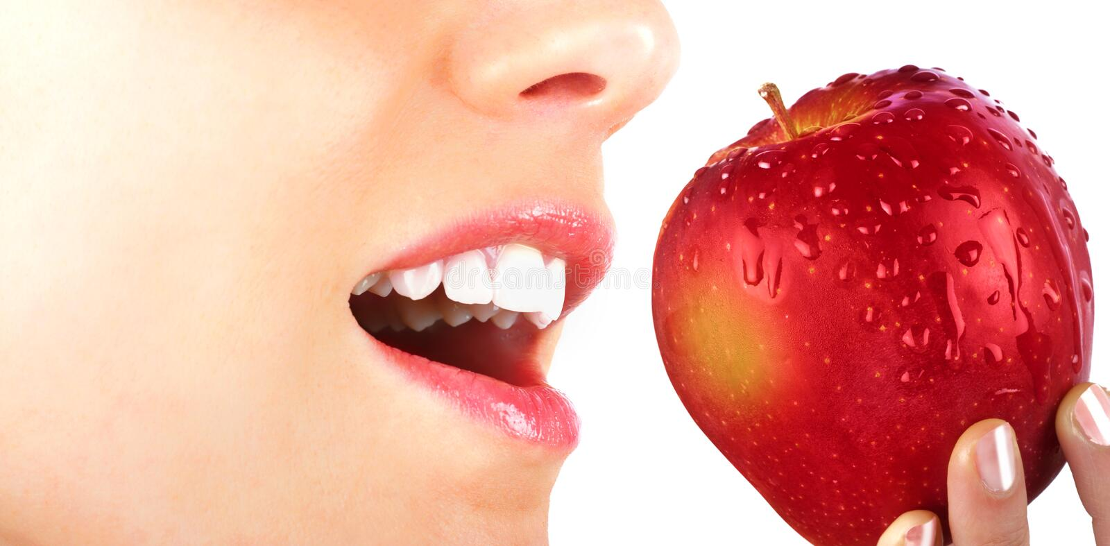 Download Eating an apple stock photo. Image of person, eating - 36783034