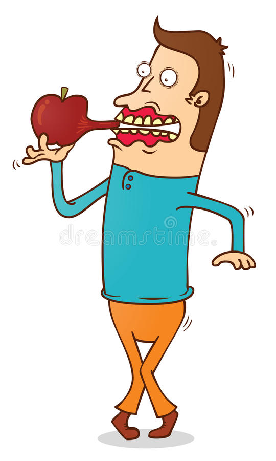 Download Eating Apple stock vector. Illustration of holding, eating - 33328866