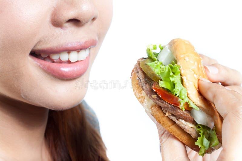 Eating Burger royalty free stock photo
