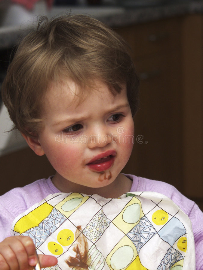 Eating child stock images