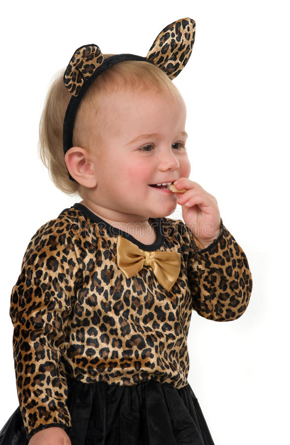 Download Eating Cookie stock photo. Image of costume, child, innocent - 12082356