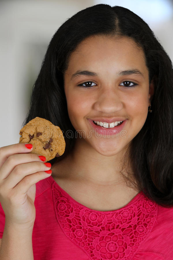Download Eating Cookie stock photo. Image of snack, female, nutrition - 24870524