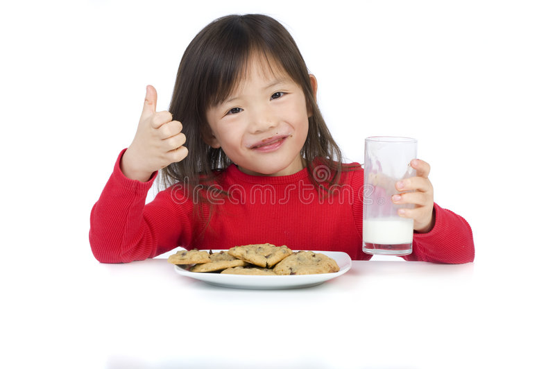 Download Eating Cookies stock photo. Image of child, asian, beauty - 8193764