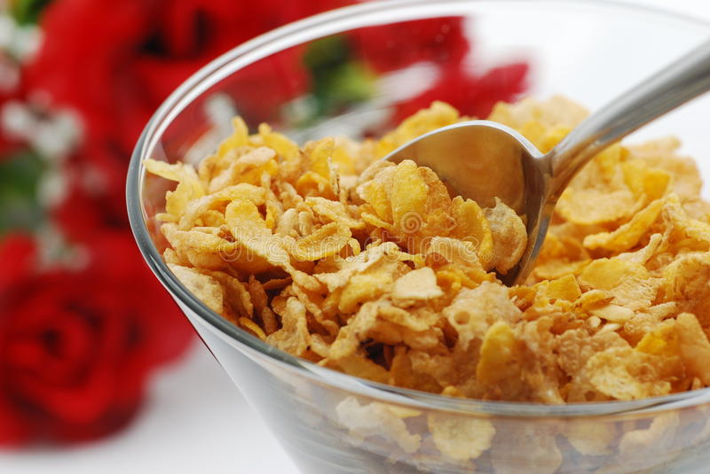 Eating fiber cereal stock photo