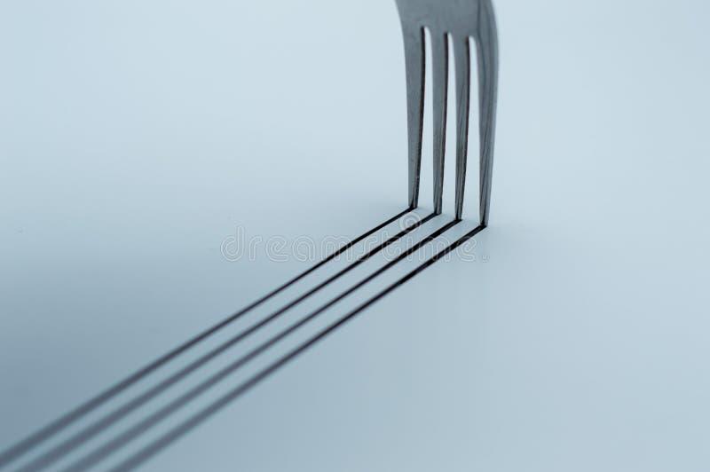 Eating fork on white background stock image