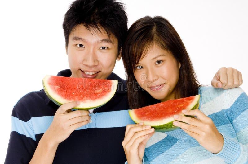 Eating Fruit royalty free stock photos