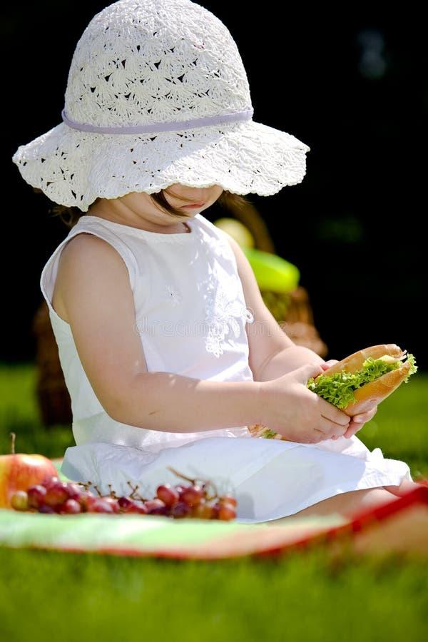 Eating girl stock image
