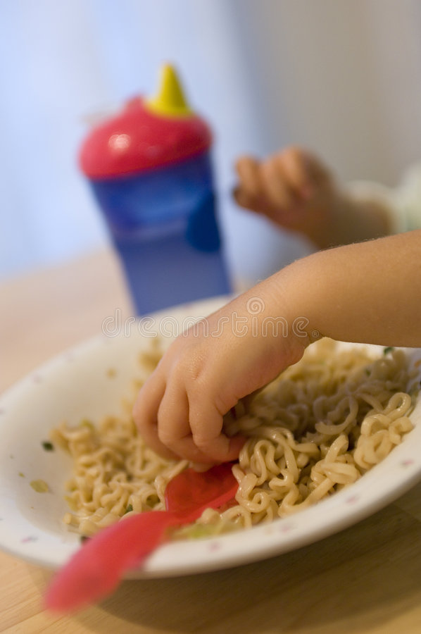 Eating with Hands stock photos