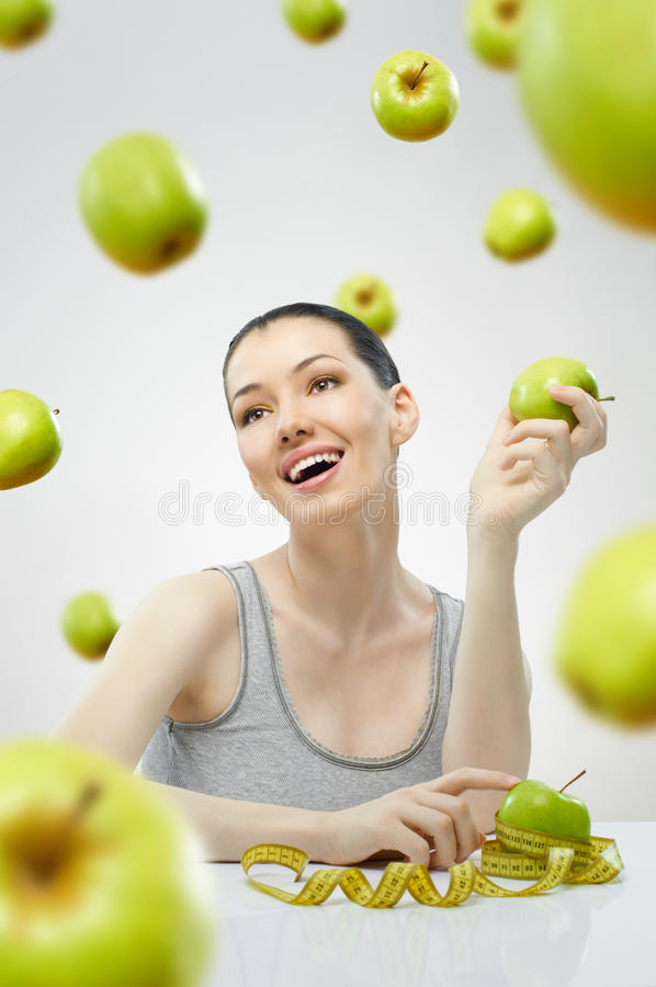 Download Eating healthy food stock image. Image of measure, weight - 17957343