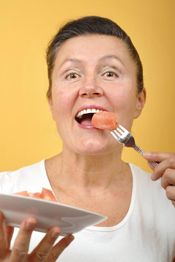 eating healthy senior στοκ εικόνες με δικαίωμα ελεύθερης χρήσης