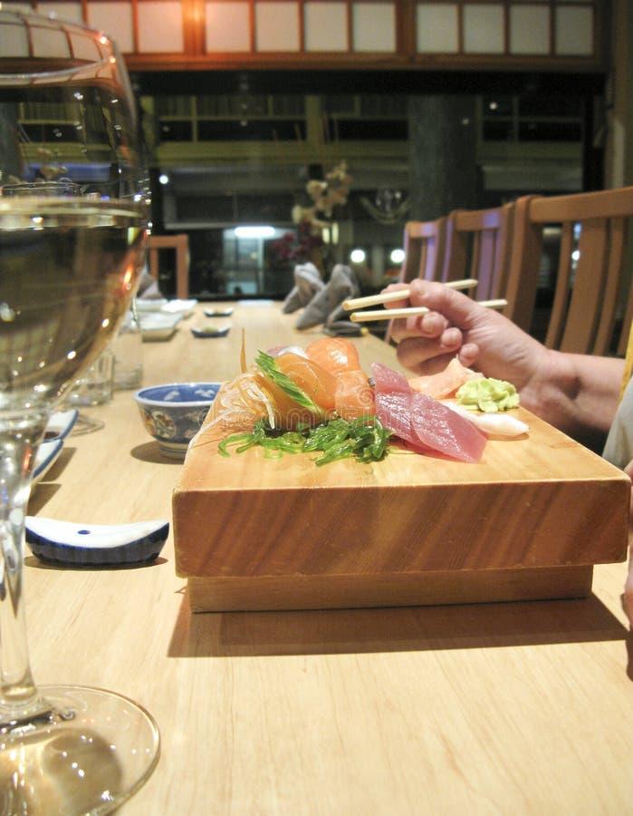 Eating japanese royalty free stock image