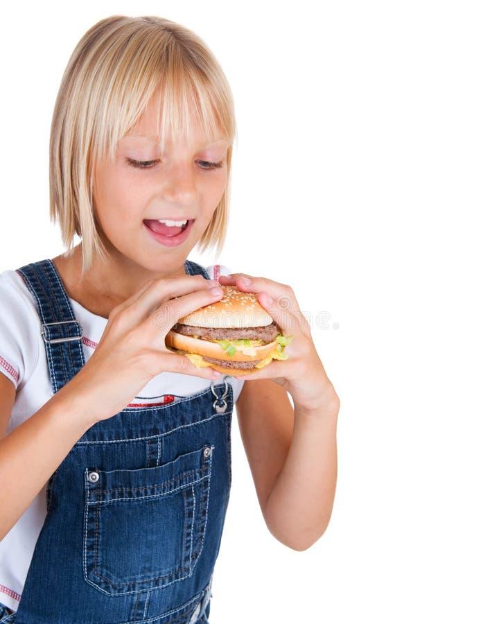 Download Eating Kid stock photo. Image of breakfast, hamburger - 15600732