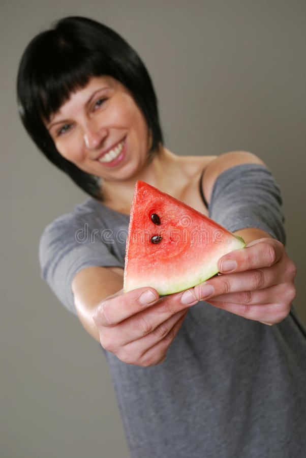 Download Eating melon stock image. Image of european, fruits, cheer - 24257113