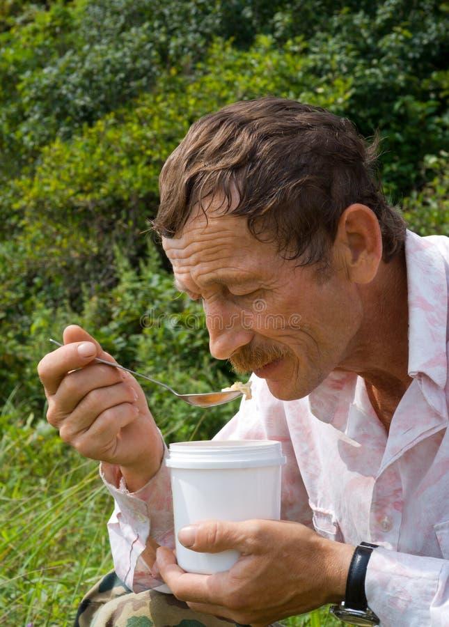 Free Eating Men 1 Stock Photo - 11006810