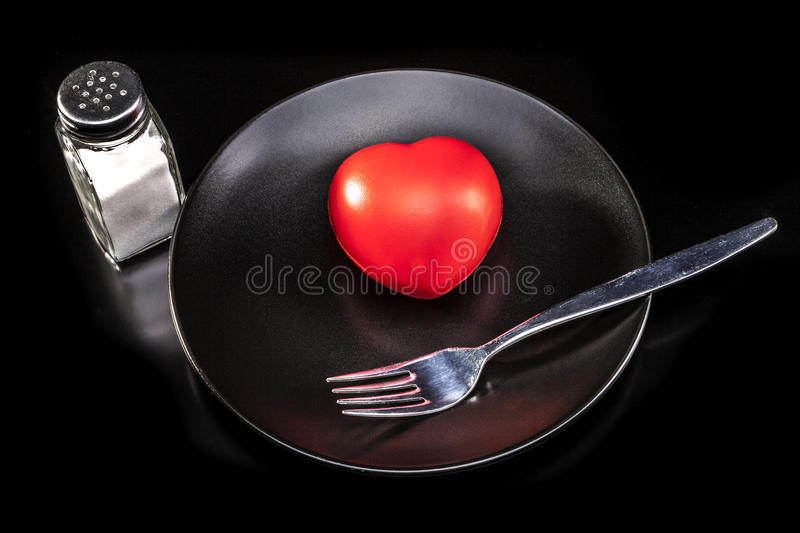 Eating My Heart royalty free stock image