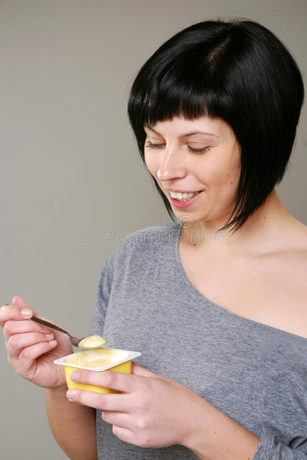 Download Eating pudding stock image. Image of food, instant, joyful - 24257139
