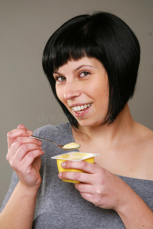 Download Eating pudding stock image. Image of copyspace, hungry - 24257143