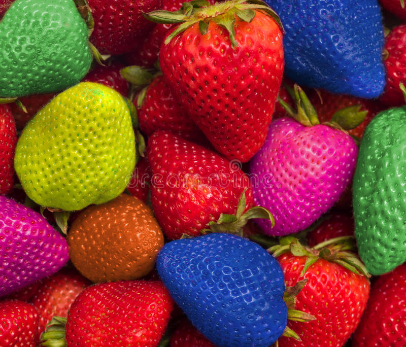 Eating rainbow of color stock images