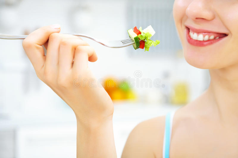 Eating Salad Stock Photography