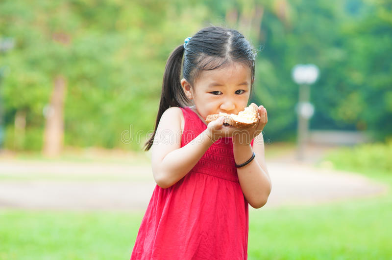 Eating sandwich royalty free stock image