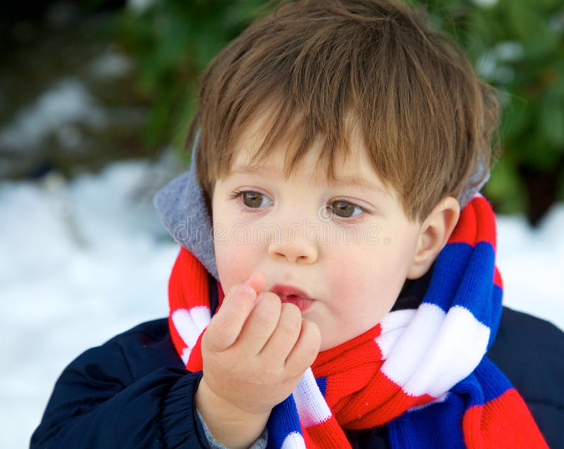 Download Eating snow stock image. Image of person, child, portrait - 23020313