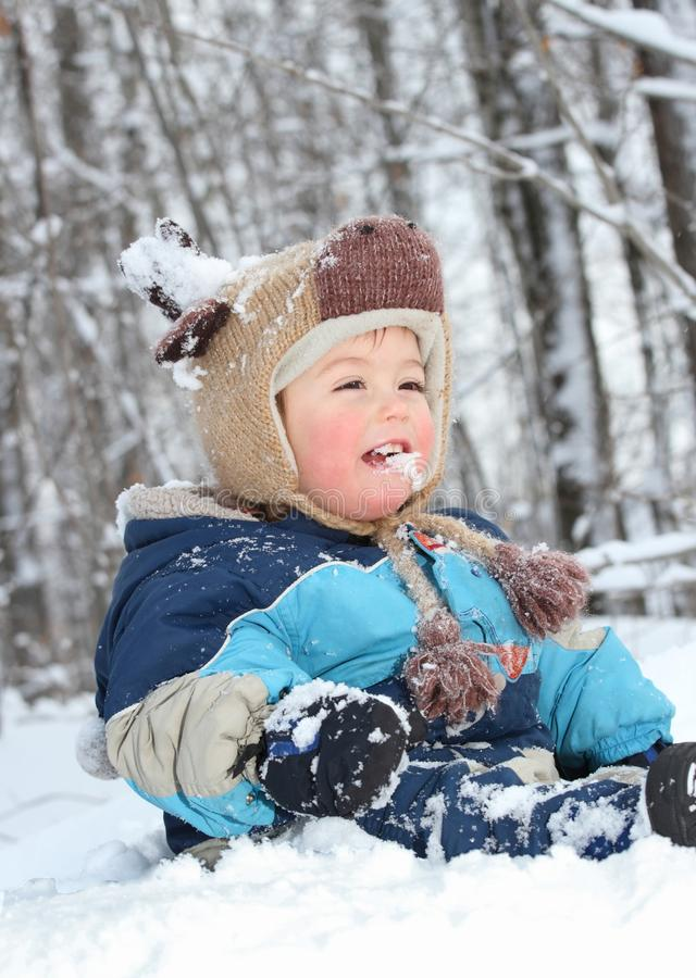 Download Eating Snow Royalty Free Stock Photography - Image: 23094577
