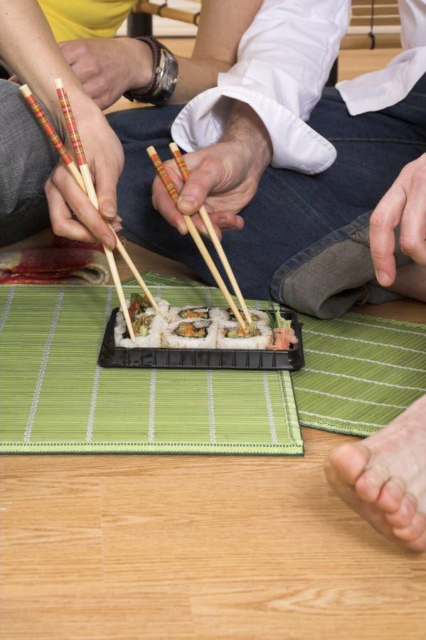 Download Eating sushi stock photo. Image of chopstick, youth, female - 2251472