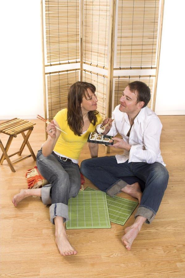 Download Eating sushi stock image. Image of couple, fresh, food - 2251489