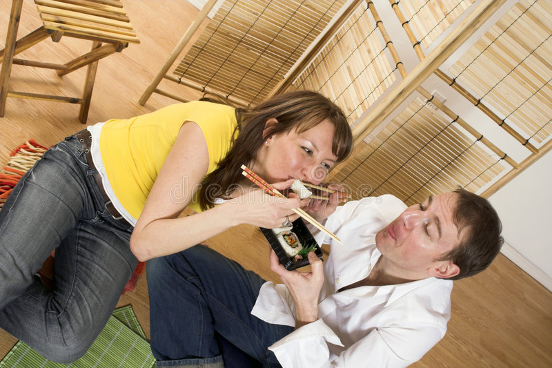Download Eating Sushi Royalty Free Stock Images - Image: 2251519