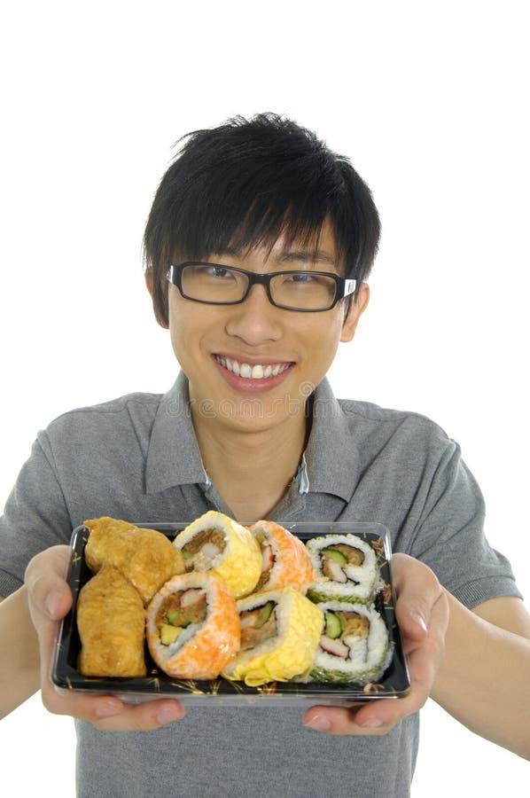 Free Eating Sushi Royalty Free Stock Photos - 5221808