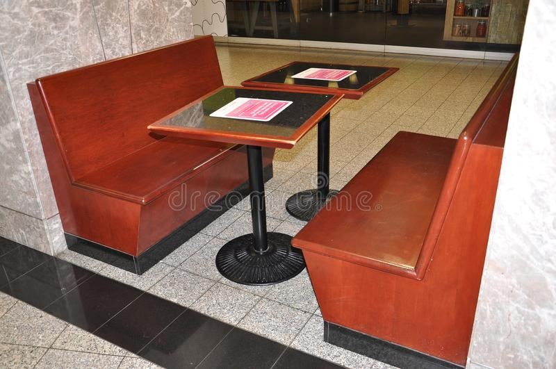 Download Eating Zone Furniture Inside Brookfield Place In Toronto Of  Ontario Province Canada Stock Photo