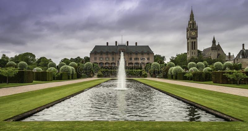 Eaton Hall, landshuset av hertigen av Westminster royaltyfri foto
