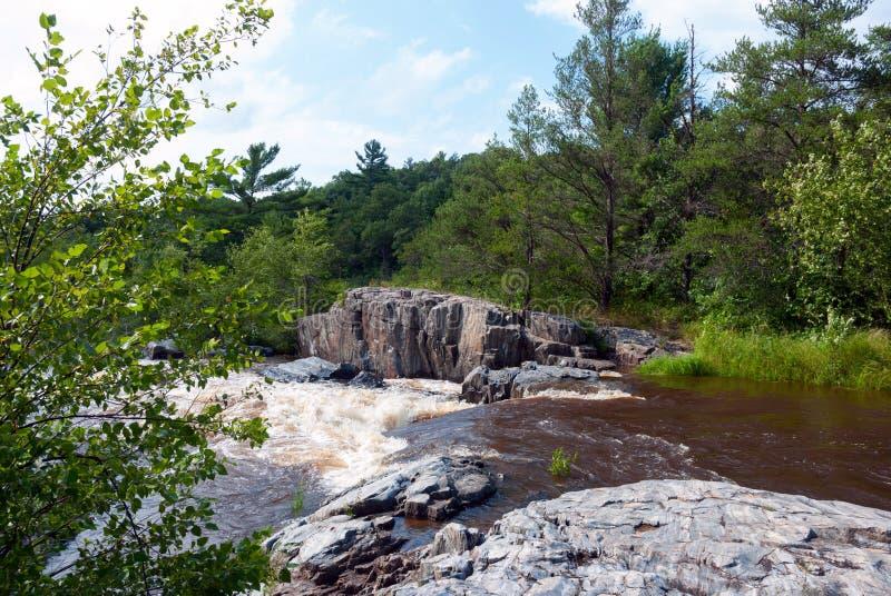 Eau Claire River - Eau Claire County Park, WI, de V.S. stock fotografie