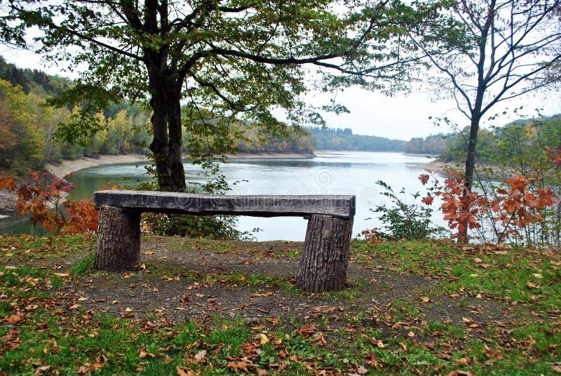 Eau d` Heure lakes stock photo
