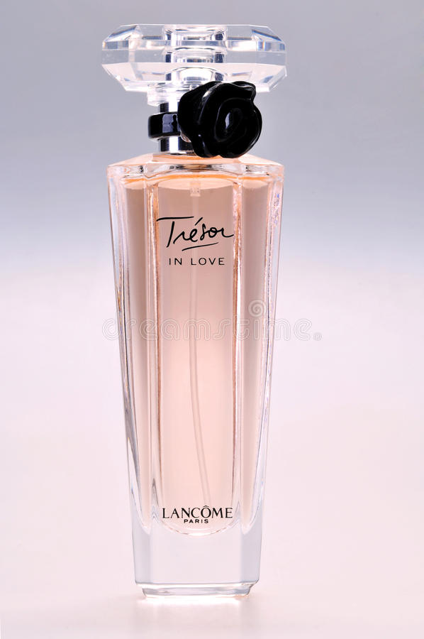 Eau de parfum perfume Lancome, Tresor In Love stock photo