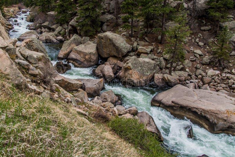 Eau de rivière de précipitation de courant par le canyon le Colorado d'onze milles images libres de droits