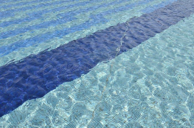 Eau propre bleue de carrelages vue image libre de droits
