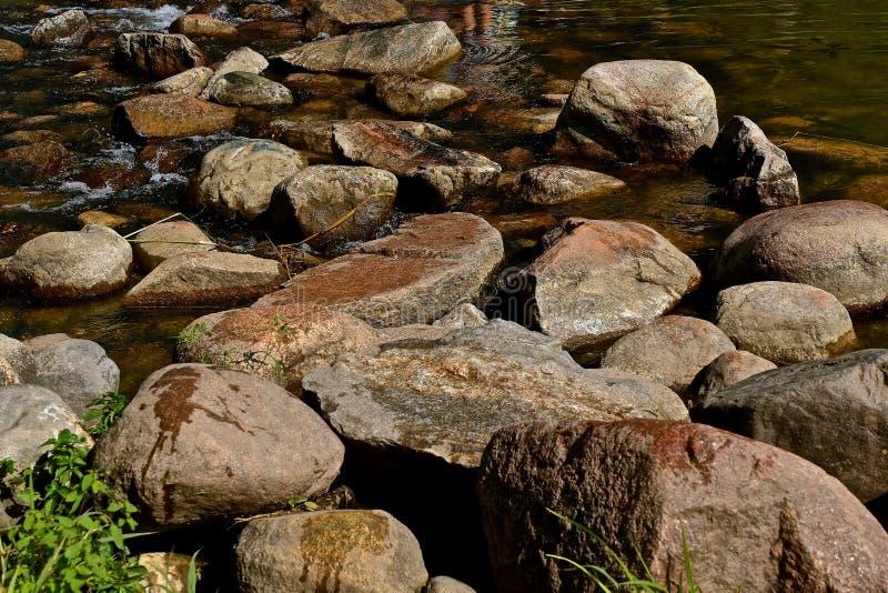 Eaux de plus près de la source du fleuve Mississippi au lac Itasca photographie stock libre de droits