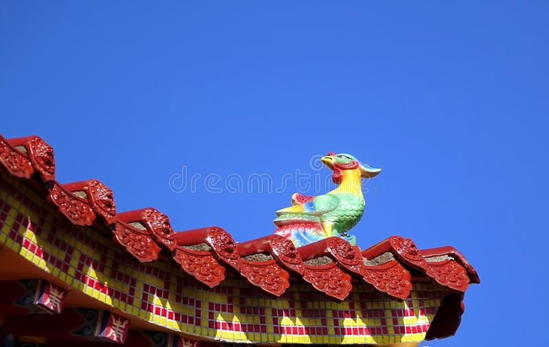 Eave cinese decorato del tempio fotografie stock