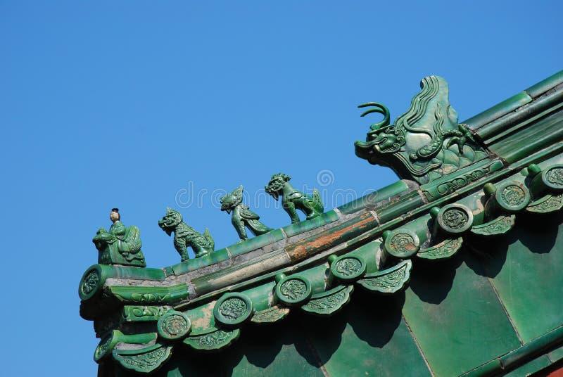 Eave della costruzione cinese fotografia stock libera da diritti