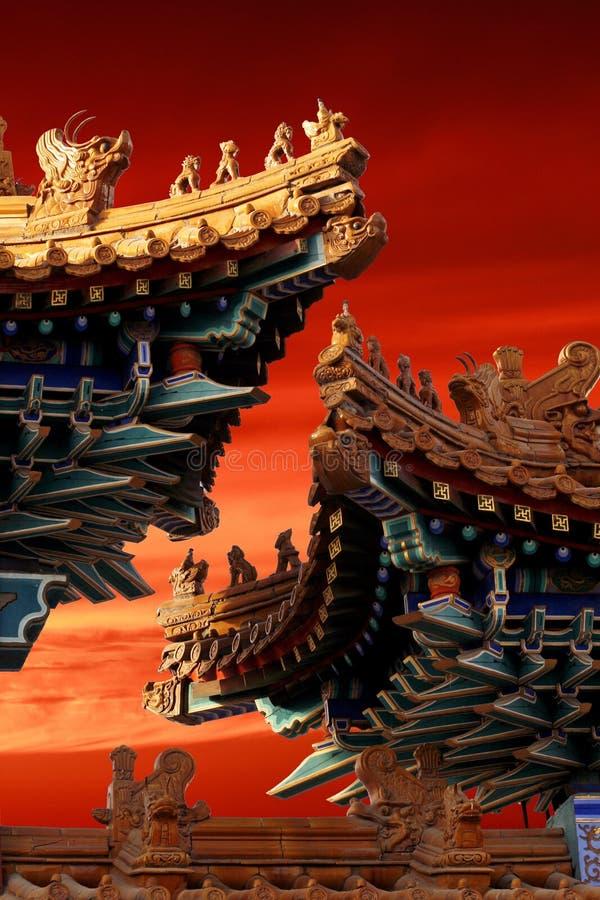 Eave do palácio imperial. fotografia de stock
