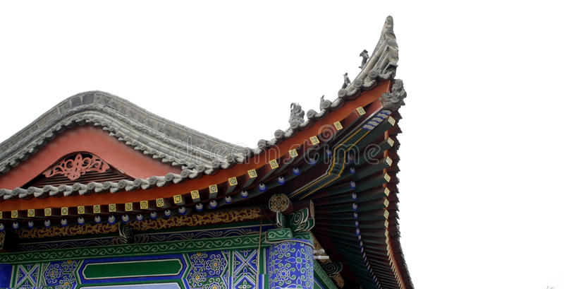 Eaves tradizionali cinesi fotografie stock libere da diritti